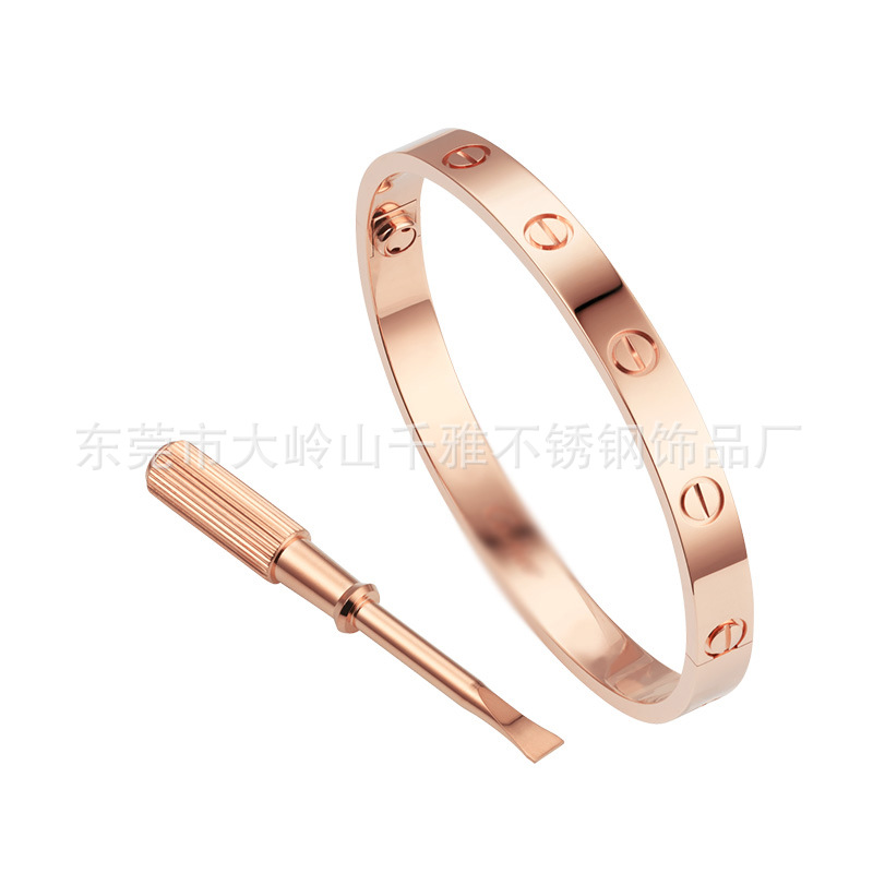 Stainless Steel Love Screw Oval Bracelet Bangle Women Men with Screwdriver bracelet
