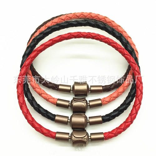 Leather rope hand chain