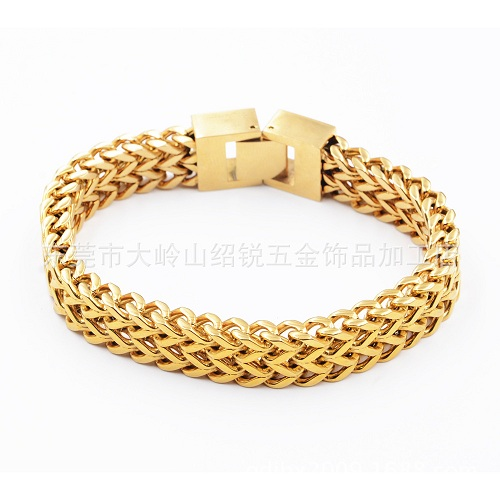 Newest Stylegold silver Men women Bracelet Engraved Custom Logo Stainless Steel Chain fashion couple gold silver