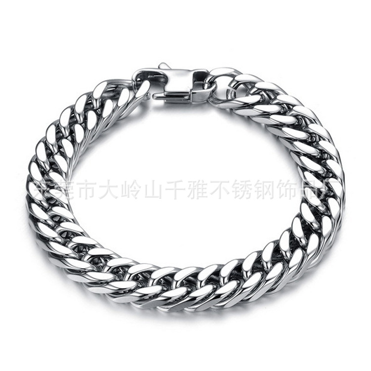 Quality Stainless Steel Women Men Cuban Chain bracelet