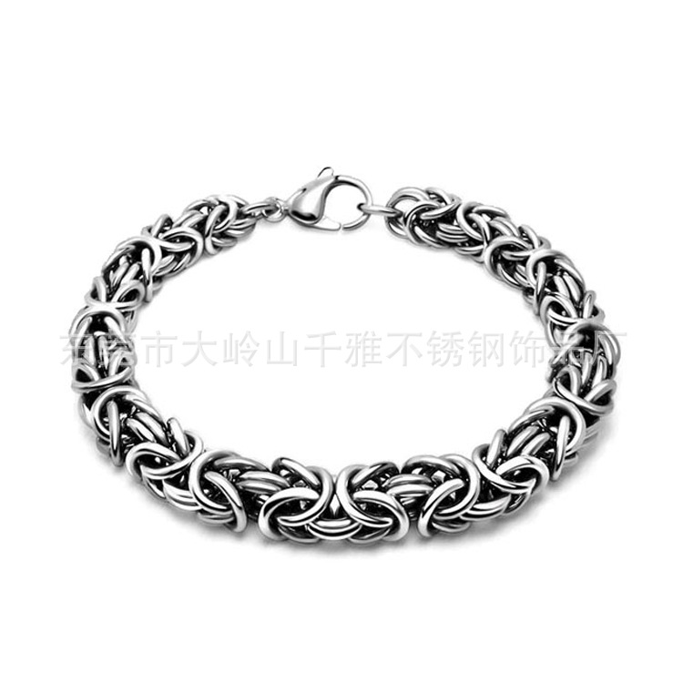 Original Stylish Metal Silver Stainless Steel Chain Bracelet for Men